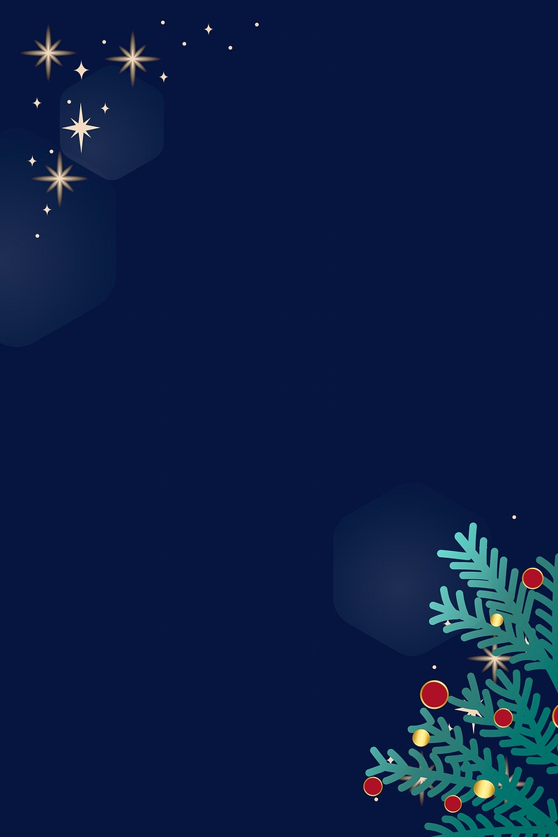 Christmas doodle on blue background vector