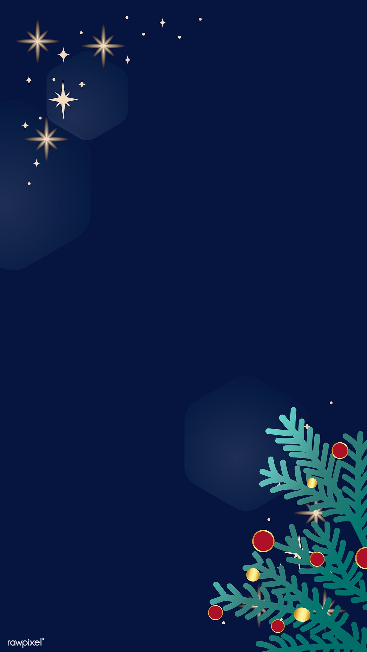 Download Premium Vector Of Christmas Doodle On Blue Background Mobile
