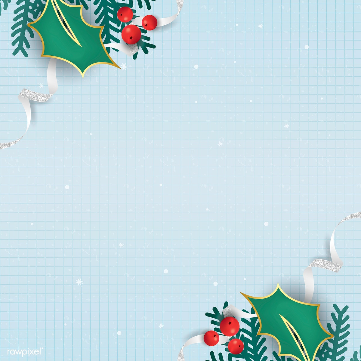 Christmas Background Vector.Download Premium Image Of Christmas Doodle On Light Blue Notepaper