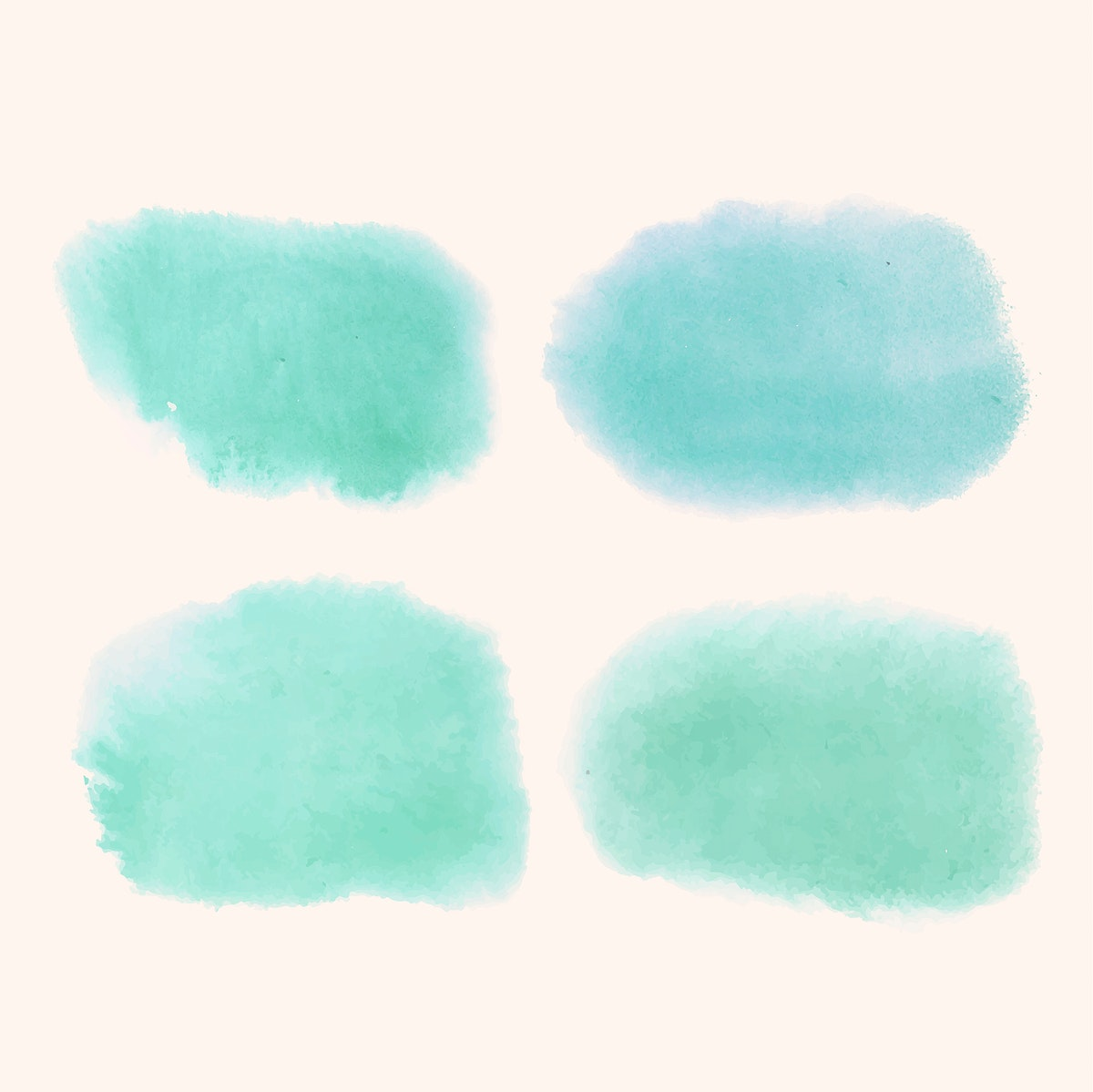 Turquoise watercolor style banner vector
