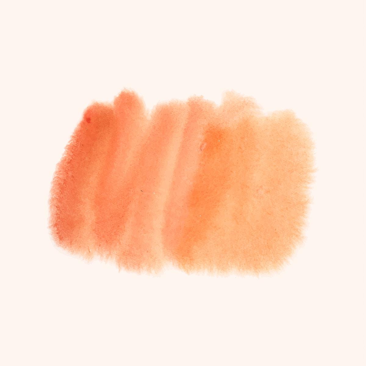 Orange watercolor style banner vector