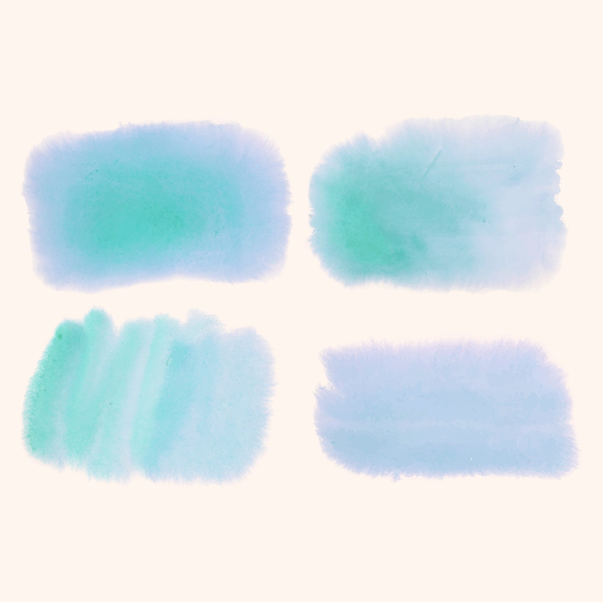 Blue watercolor style banner vector