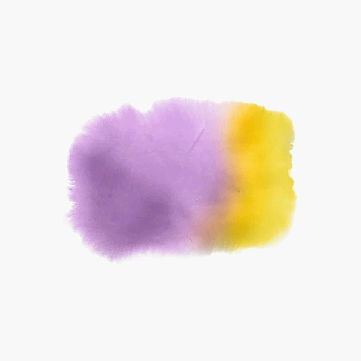 Purple and yellow watercolor style banner vector