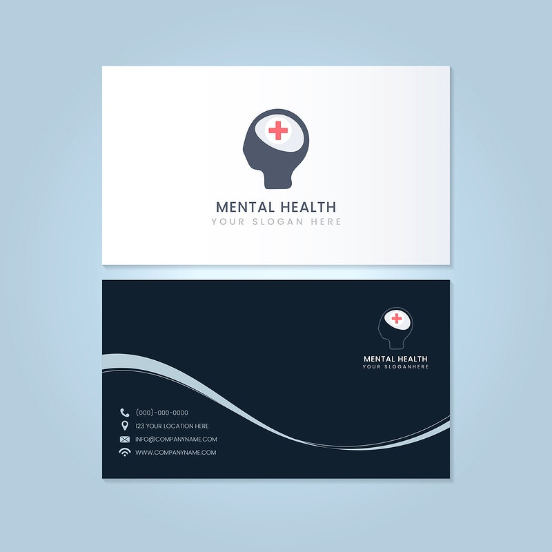 Medical Professional Business Card Design Moc Free Stock Vector