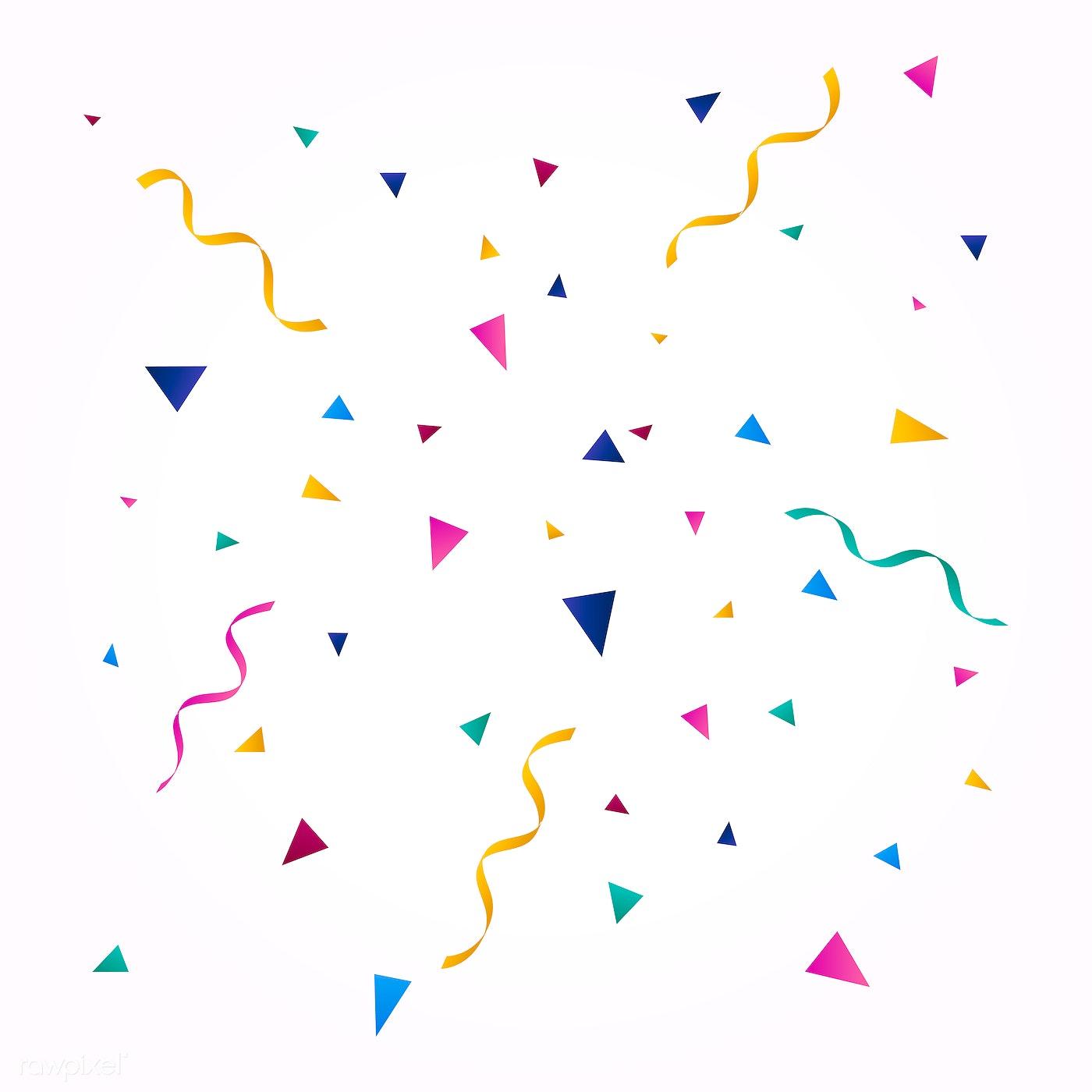 Download premium image of Colorful confetti wallpaper 6555