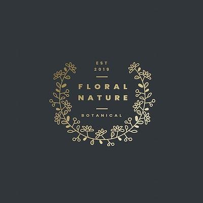74628394433 Botanicals nature logo design vector