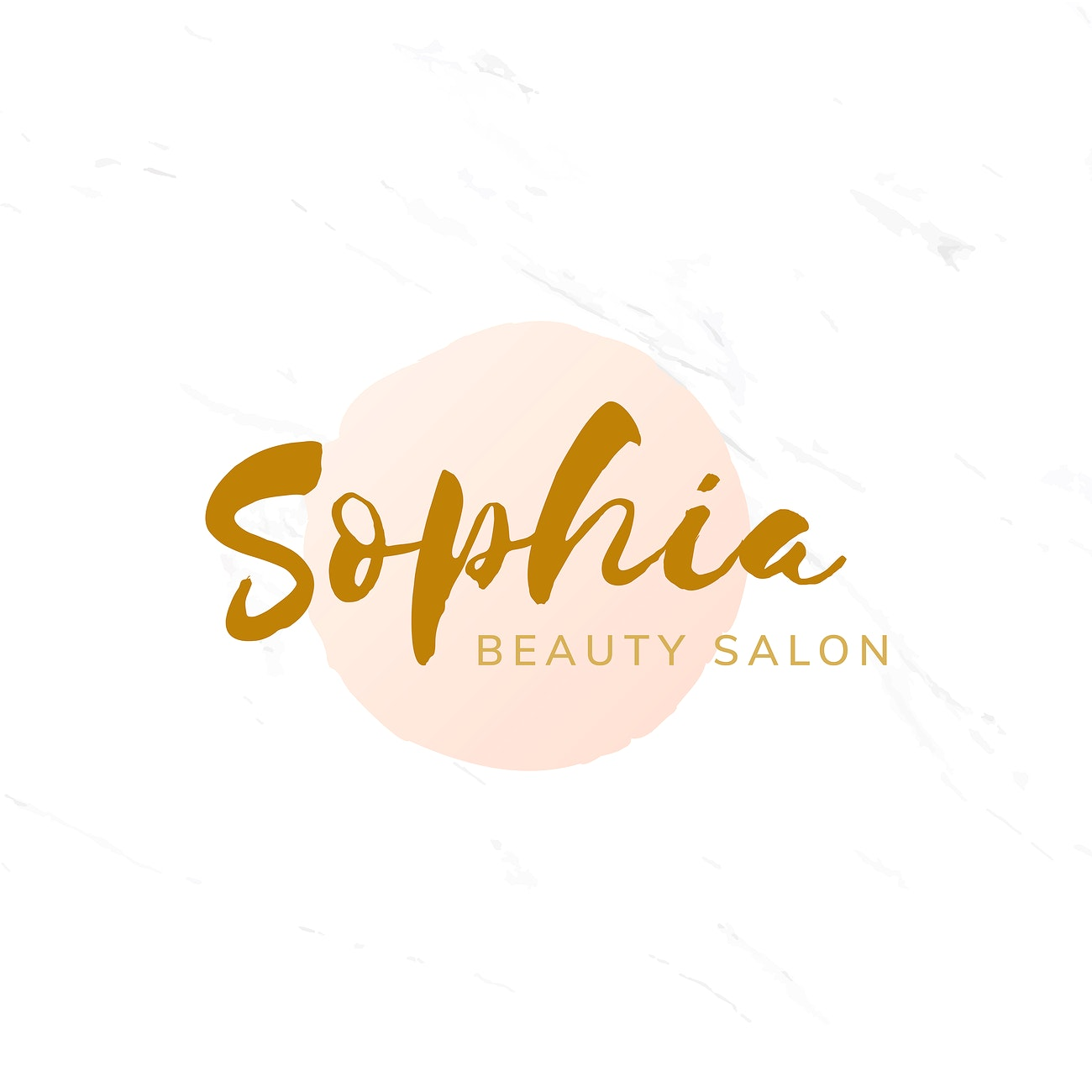 Golden Beauty Salon Logo Design Vector Royalty Free Vector 524598