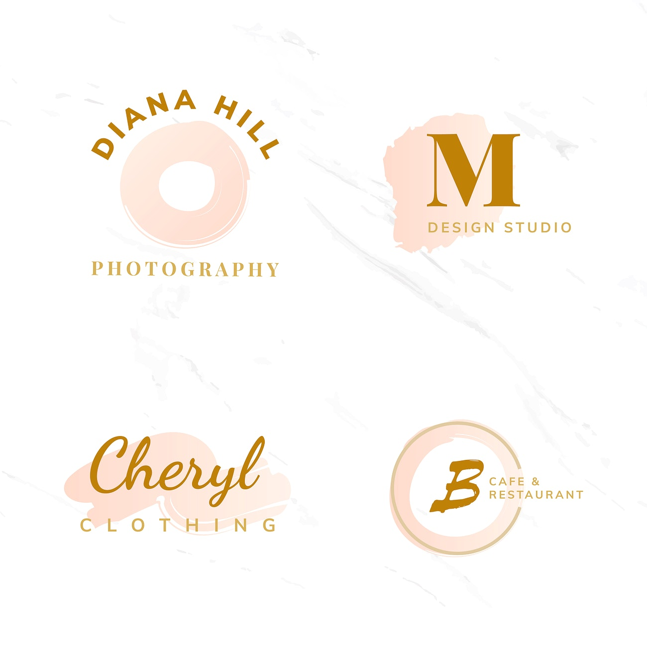 Set Of Beauty And Fashion Logo Design Vectors Royalty Free Vector 524613
