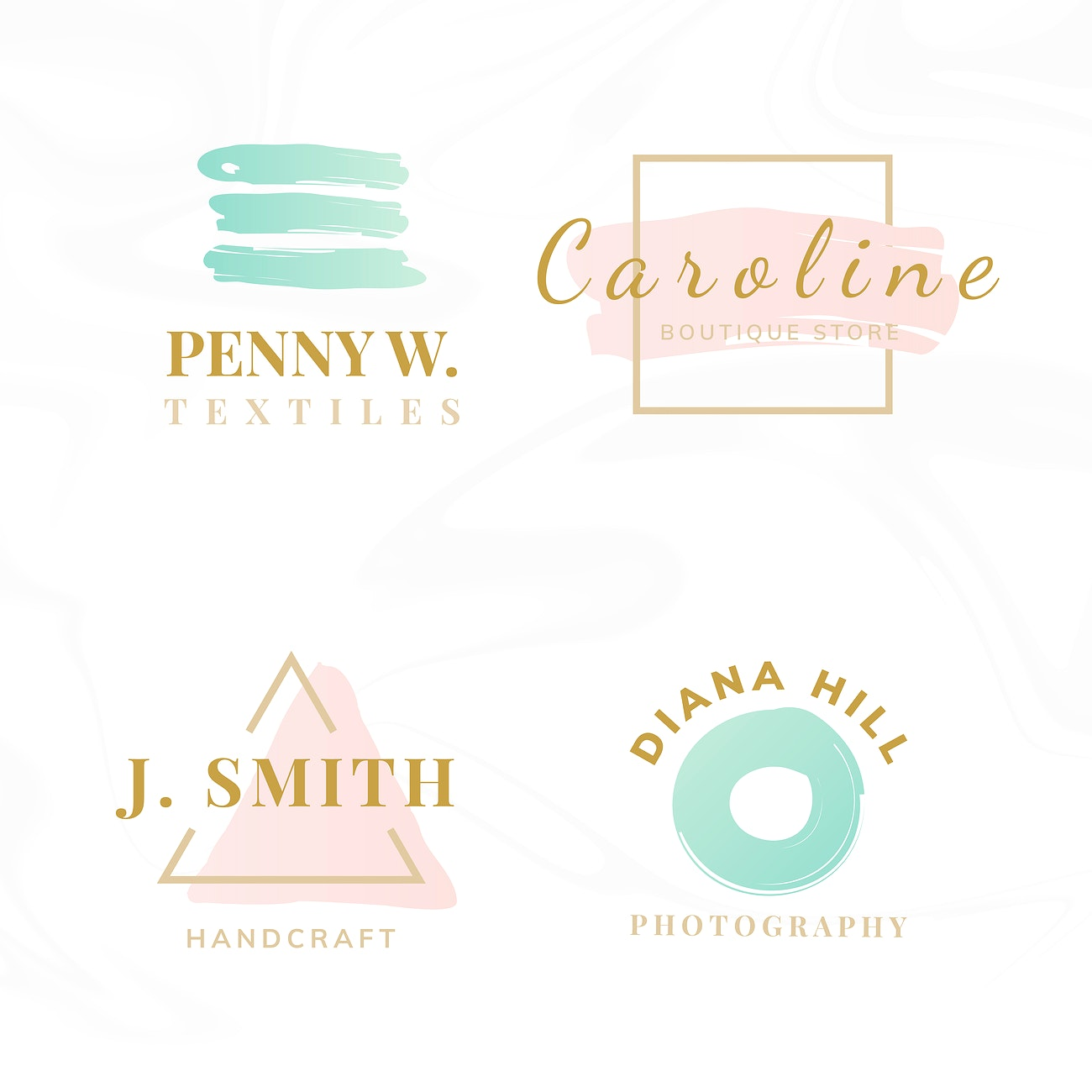 Set Of Beauty And Fashion Logo Design Vectors Royalty Free Vector 524602