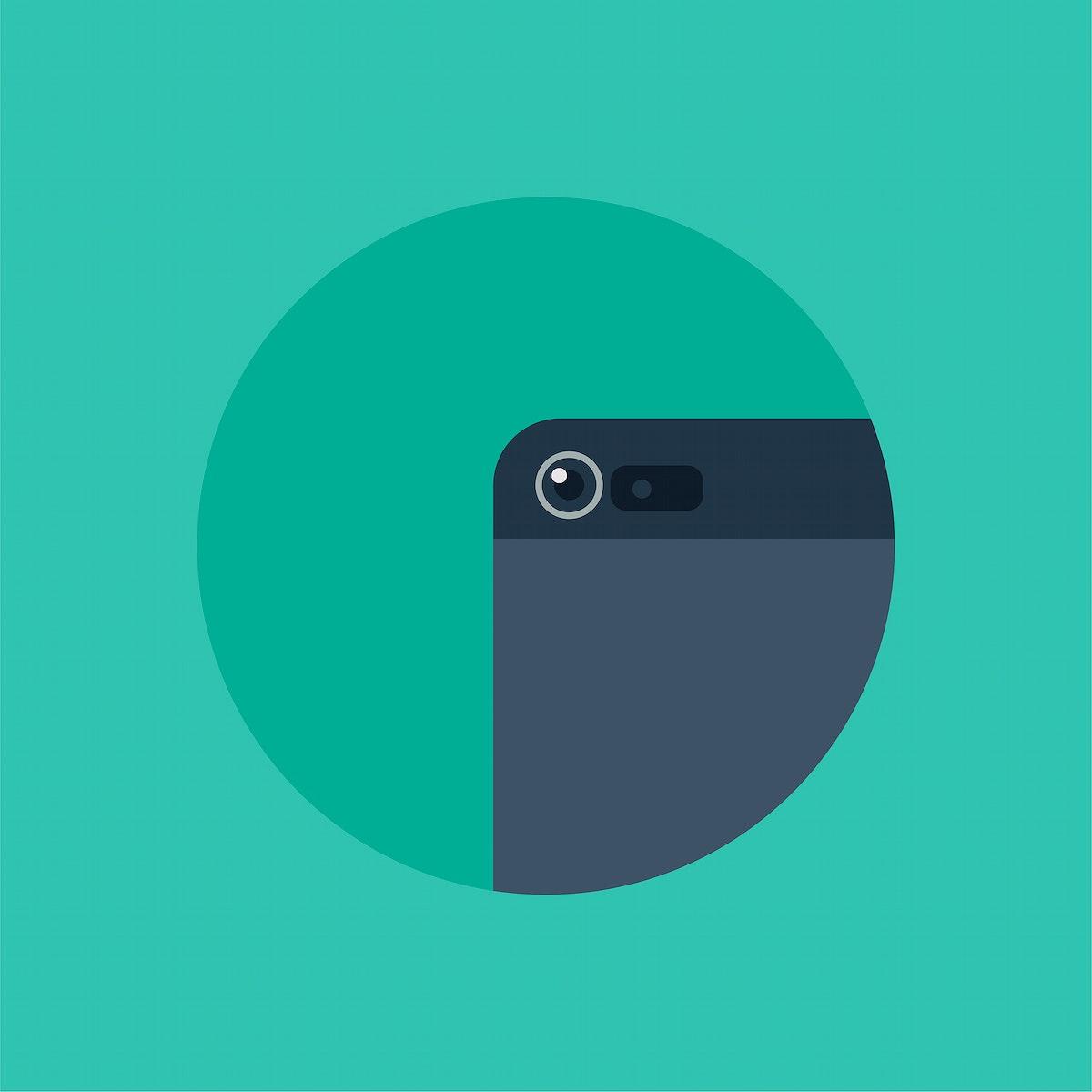 Vector of smartphone camera