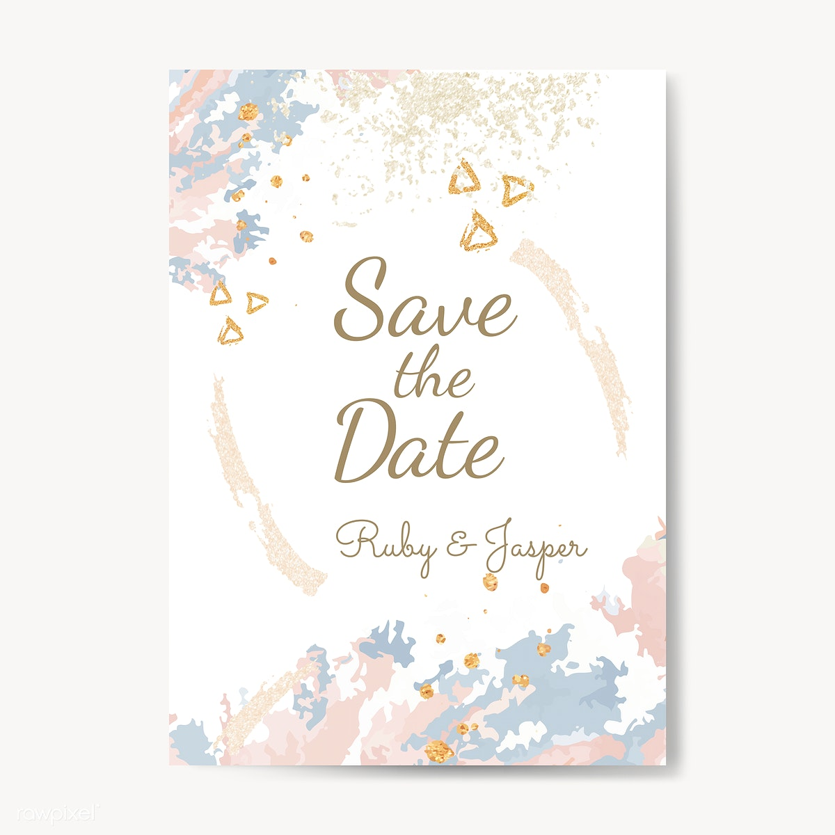 Save The Date Wedding Invitation Vector Free Stock Vector 533287