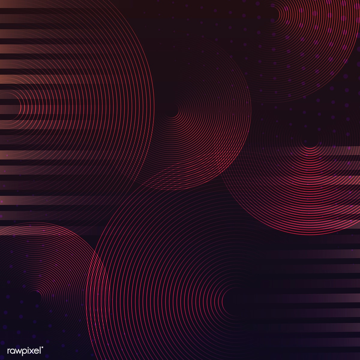 Red circle pattern background vector | Free stock