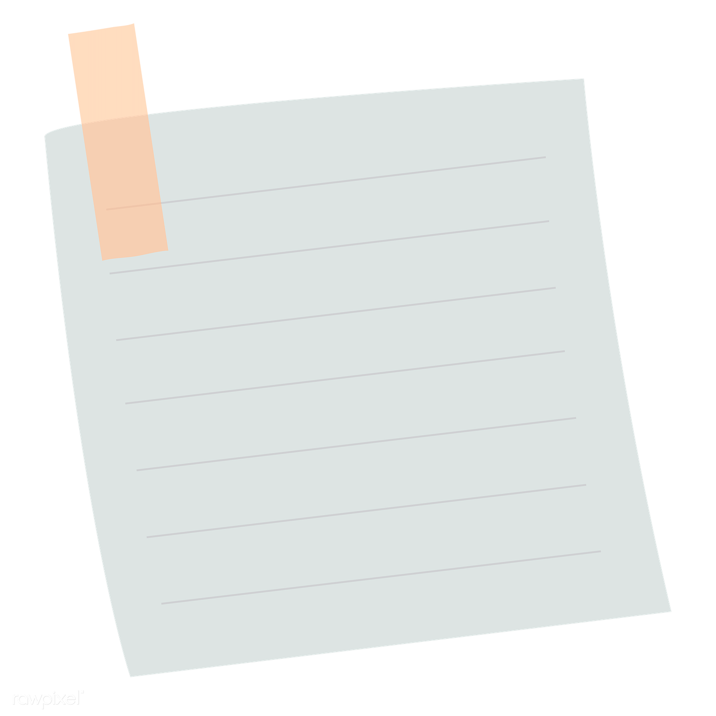 Lined paper note | Royalty free transparent png - 1233207