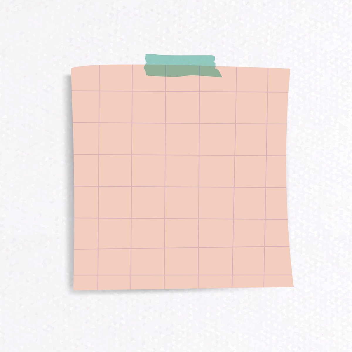 Blank lined notepaper set with sticky tape on textured paper background vector