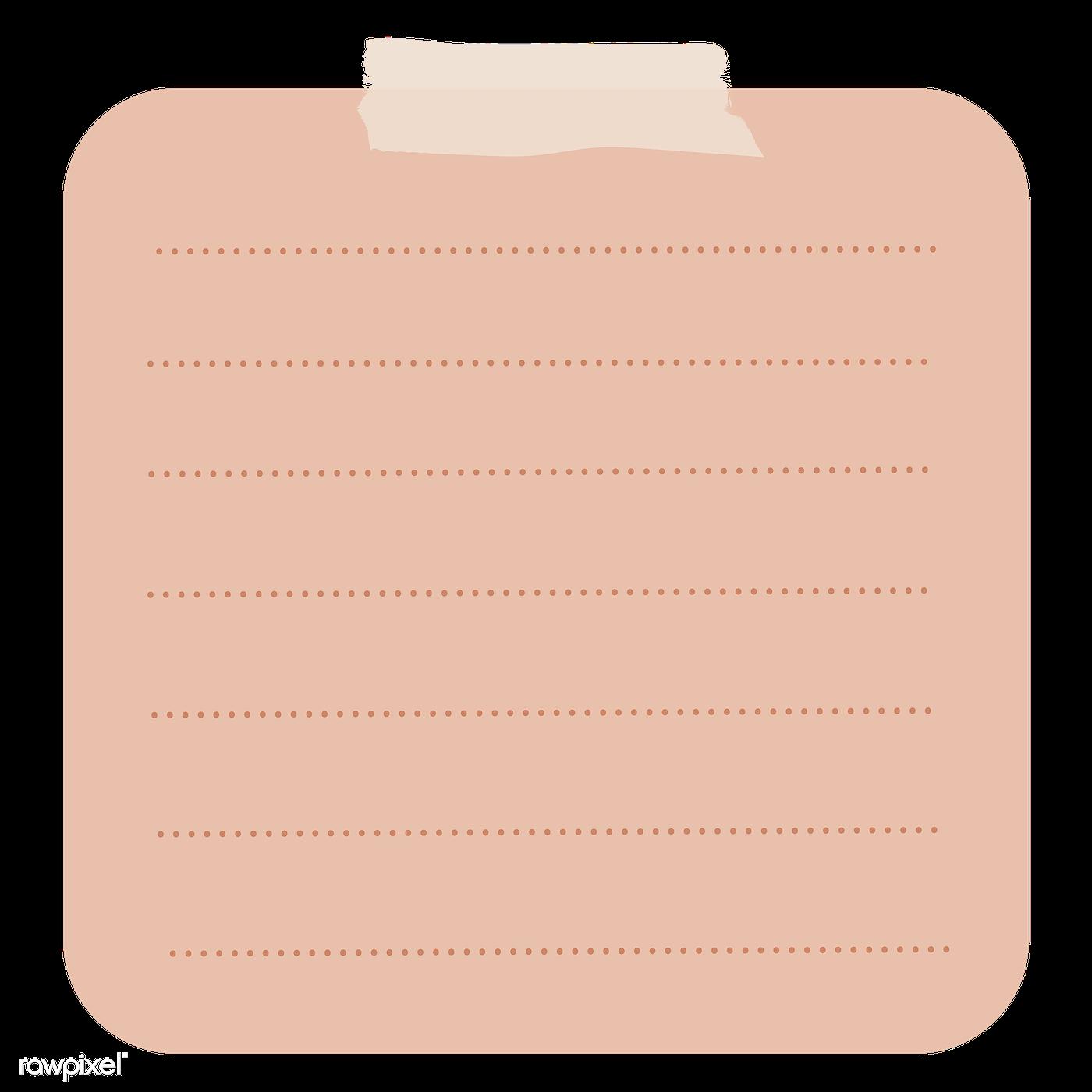 Transparent Background Blank Sticky Note Png - Laptopg