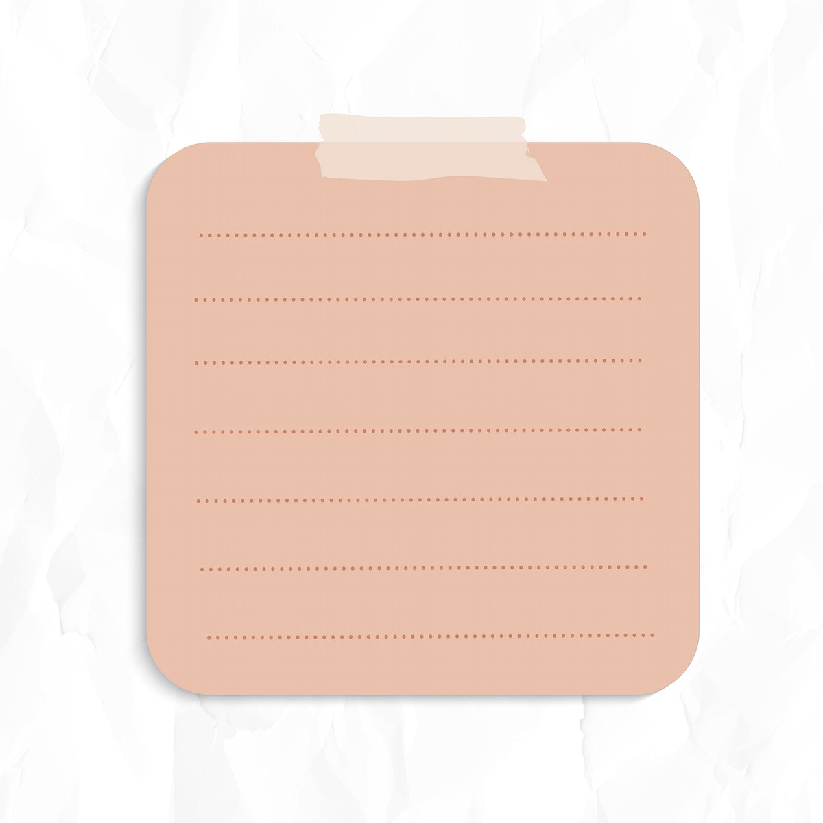 Blank lined paper set with sticky tape on wrinkled paper background vector