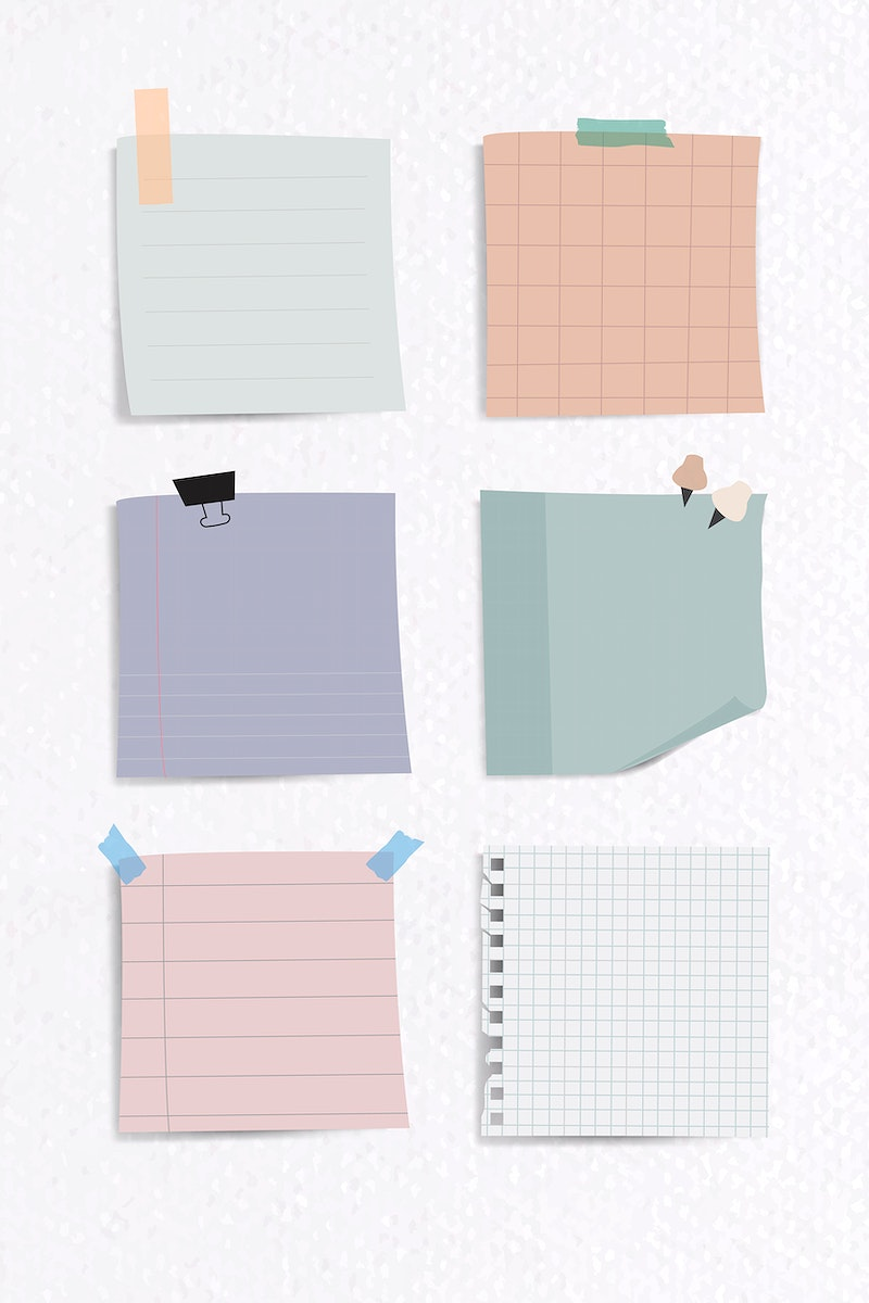 Set of notepaper on textured paper background vector