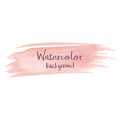Pastel peach watercolor background vector