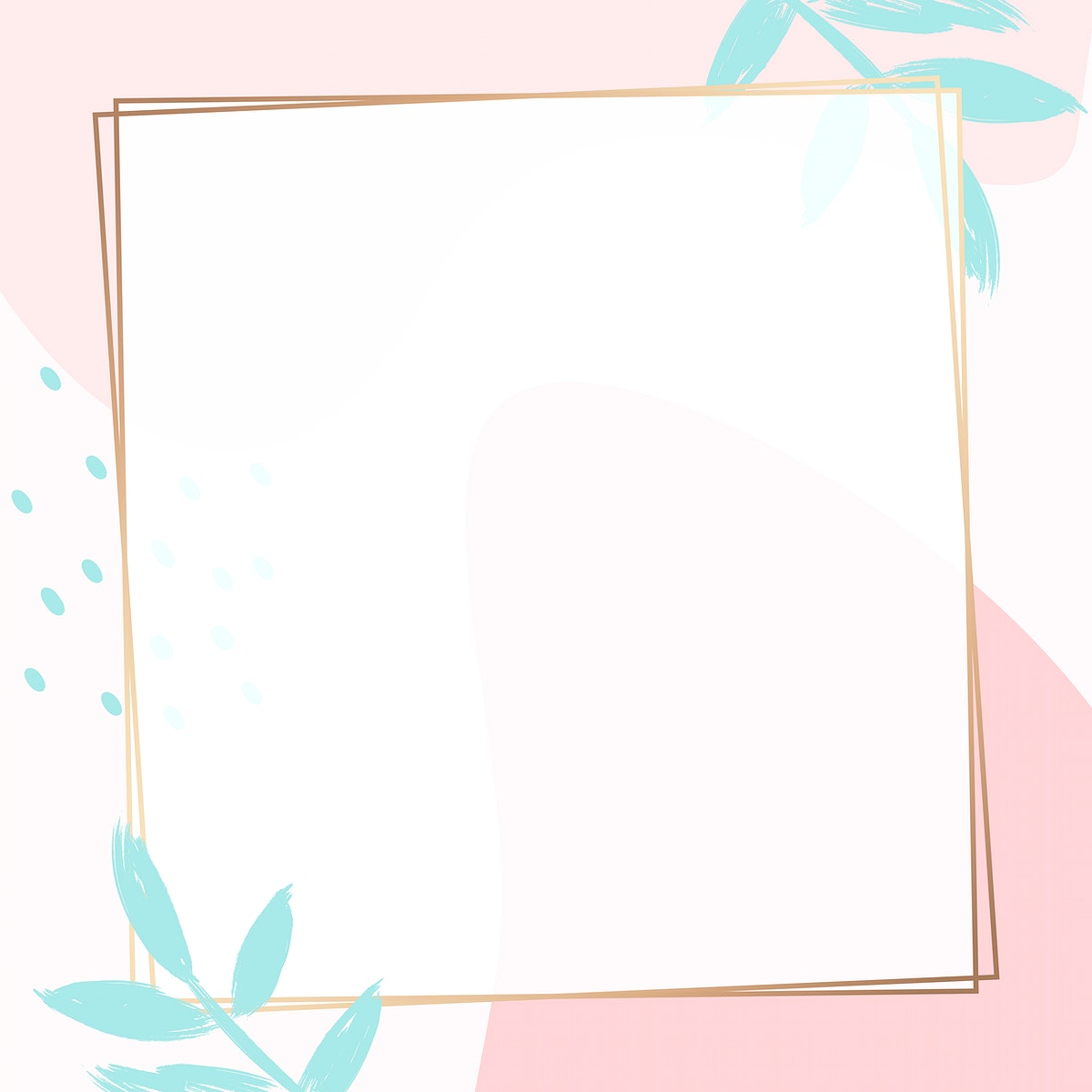 Square golden frame on a colorful Memphis pattern background vector