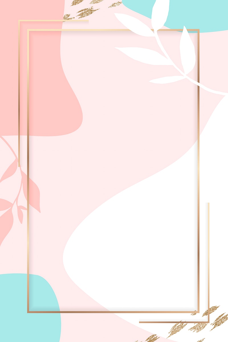 Rectangle golden frame on a colorful Memphis pattern background vector