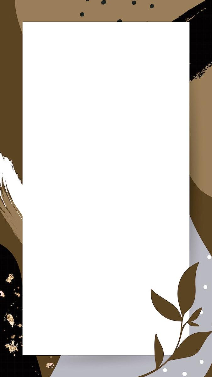 Rectangular Memphis frame design vector