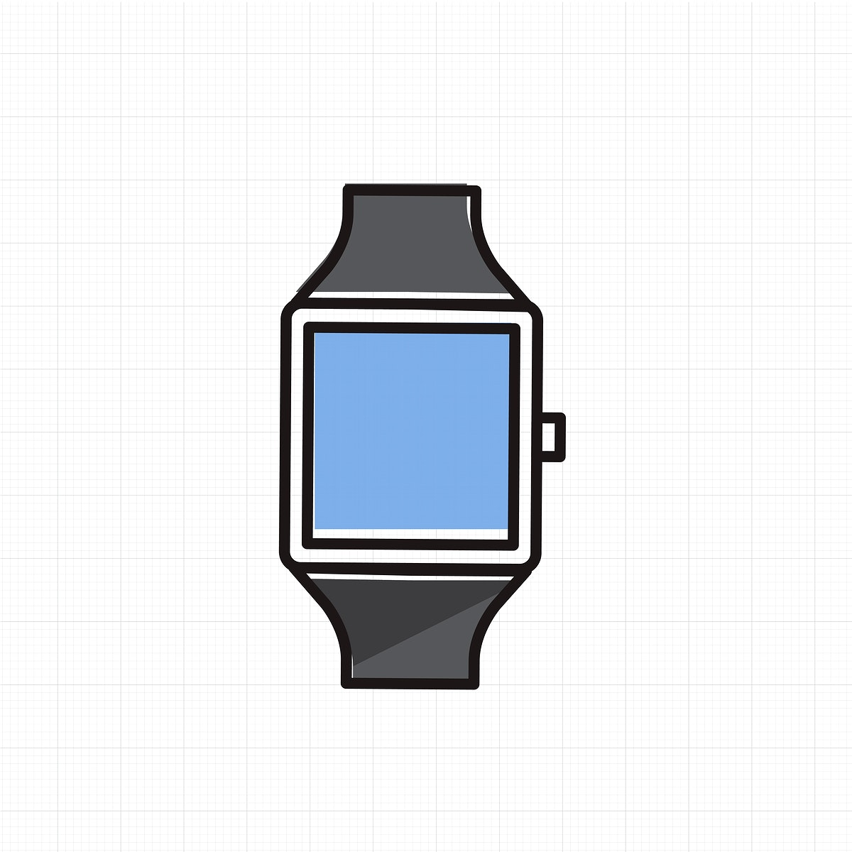 Vector of hand watch icon