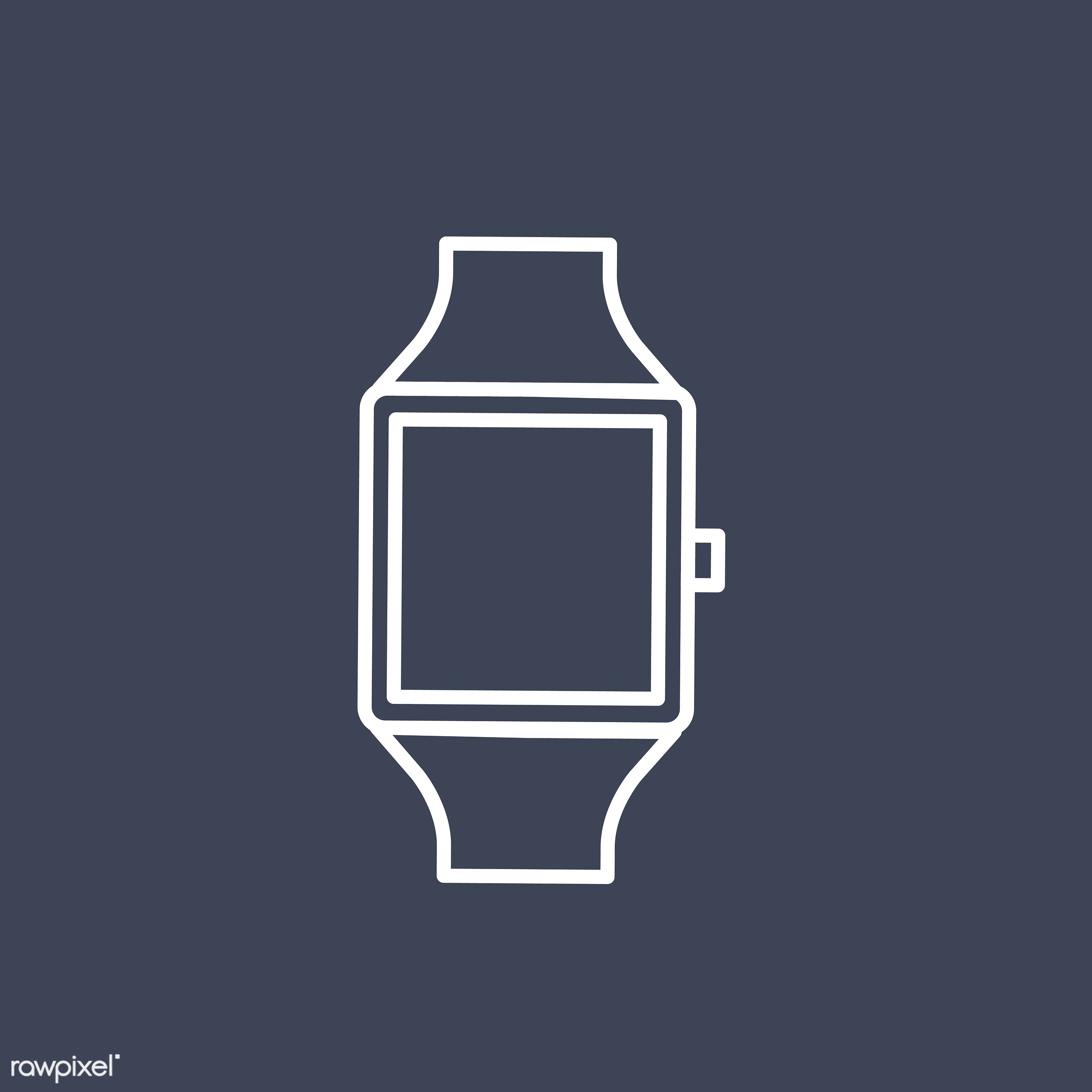Vector of hand watch icon - modern, symbol, hand, watch, clock, illustration, vector, graphic, icon, mockup, copy space,...