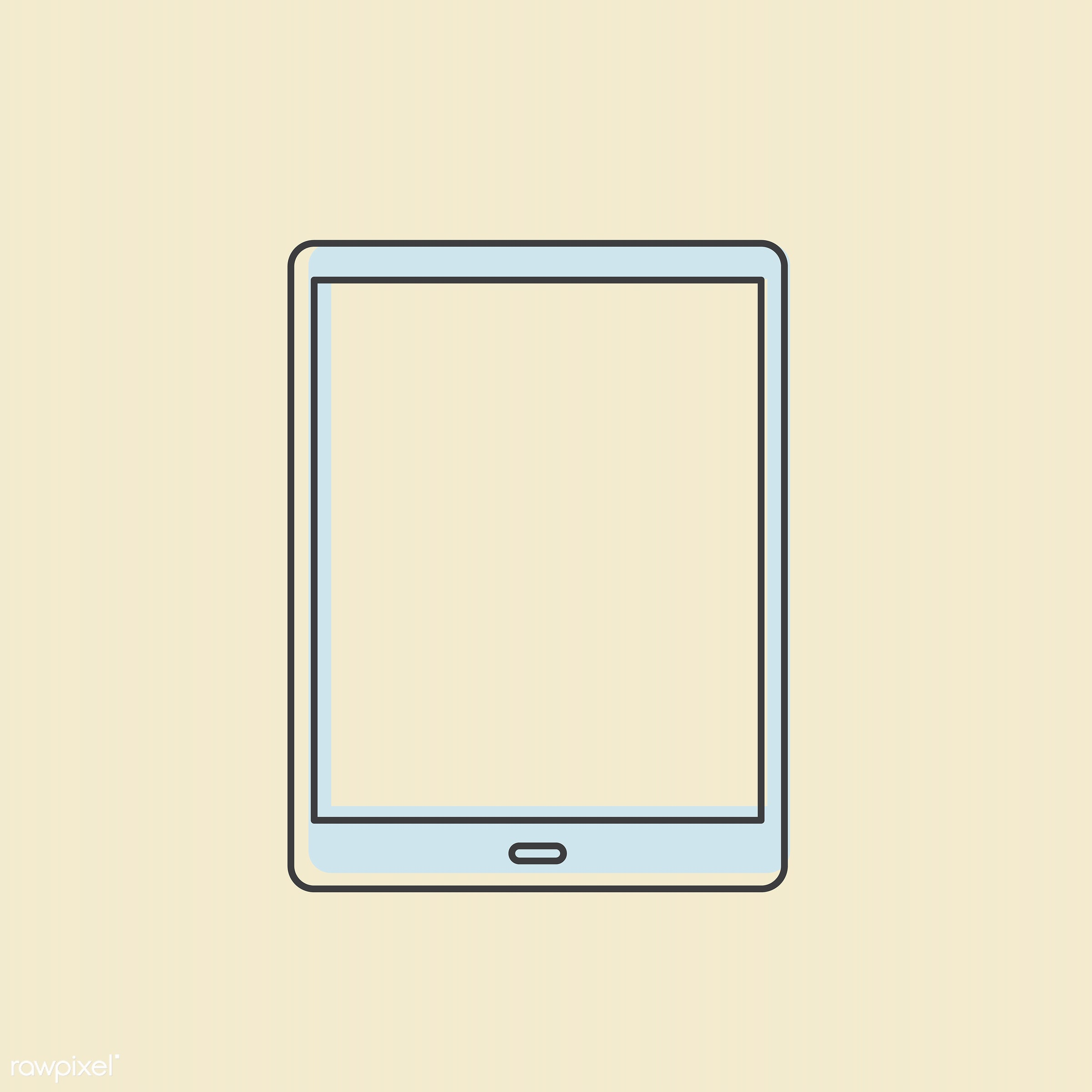 Vector of digital tablet icon - design, digital, equipment, graphic, icon, illustration, mobility, monitor, objects, screen...