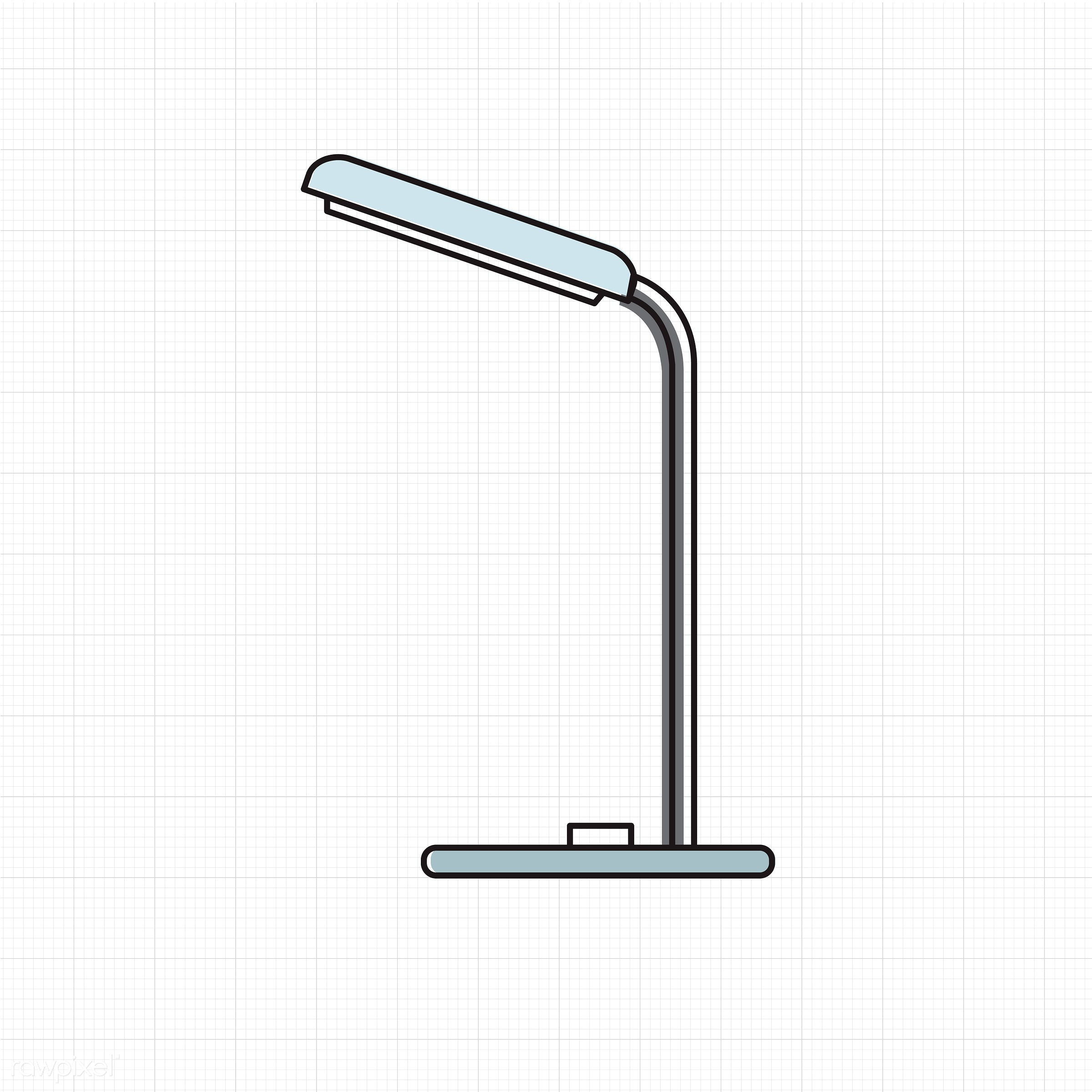 Vector of lamp icon - bulb, decoration, design, electric, emblem, equipment, graphic, icon, illustration, lamp, object, sign...