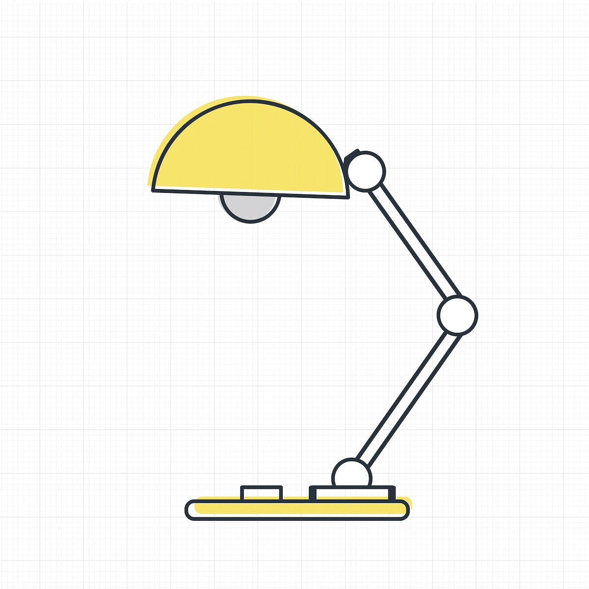 Vector of lamp icon