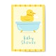 Baby shower invitation card with a duck vector