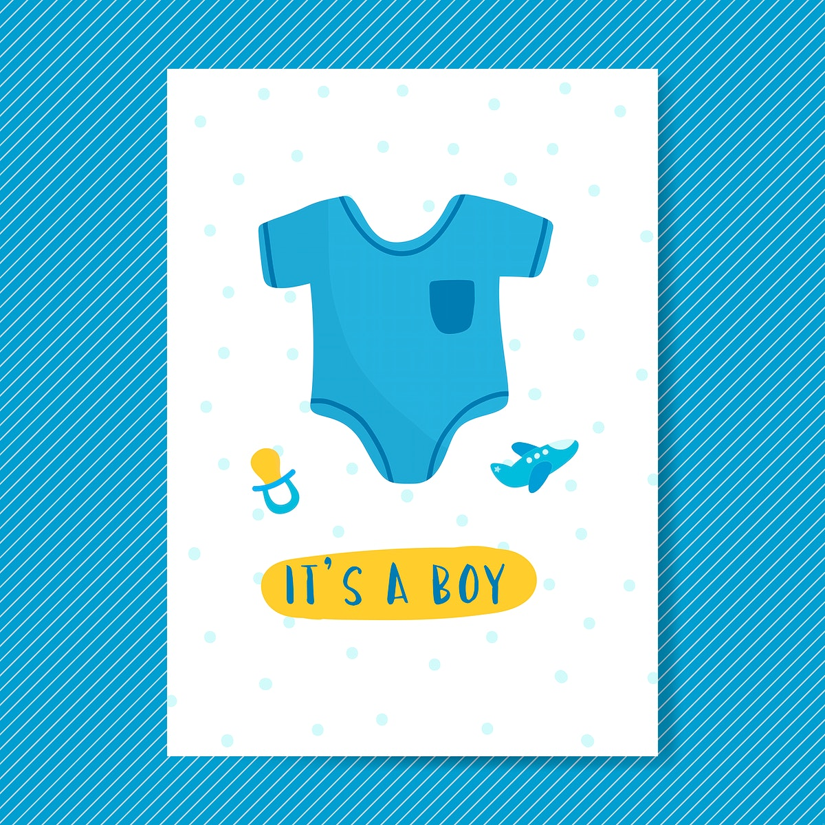Its a boy baby shower invitation card vector