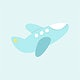 Blue baby plane toy vector