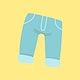 Cute little baby jeans vector