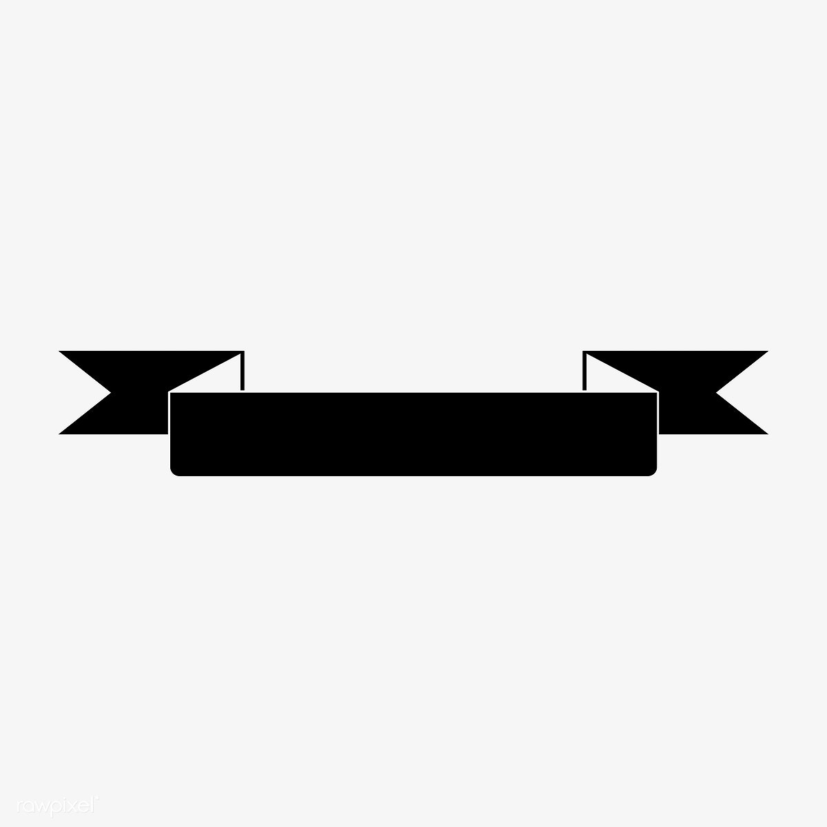 Blank black ribbon banner vector | Free stock vector - 543092