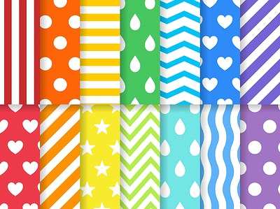 Rainbow Pattern Royalty Free Stock Vectors | rawpixel