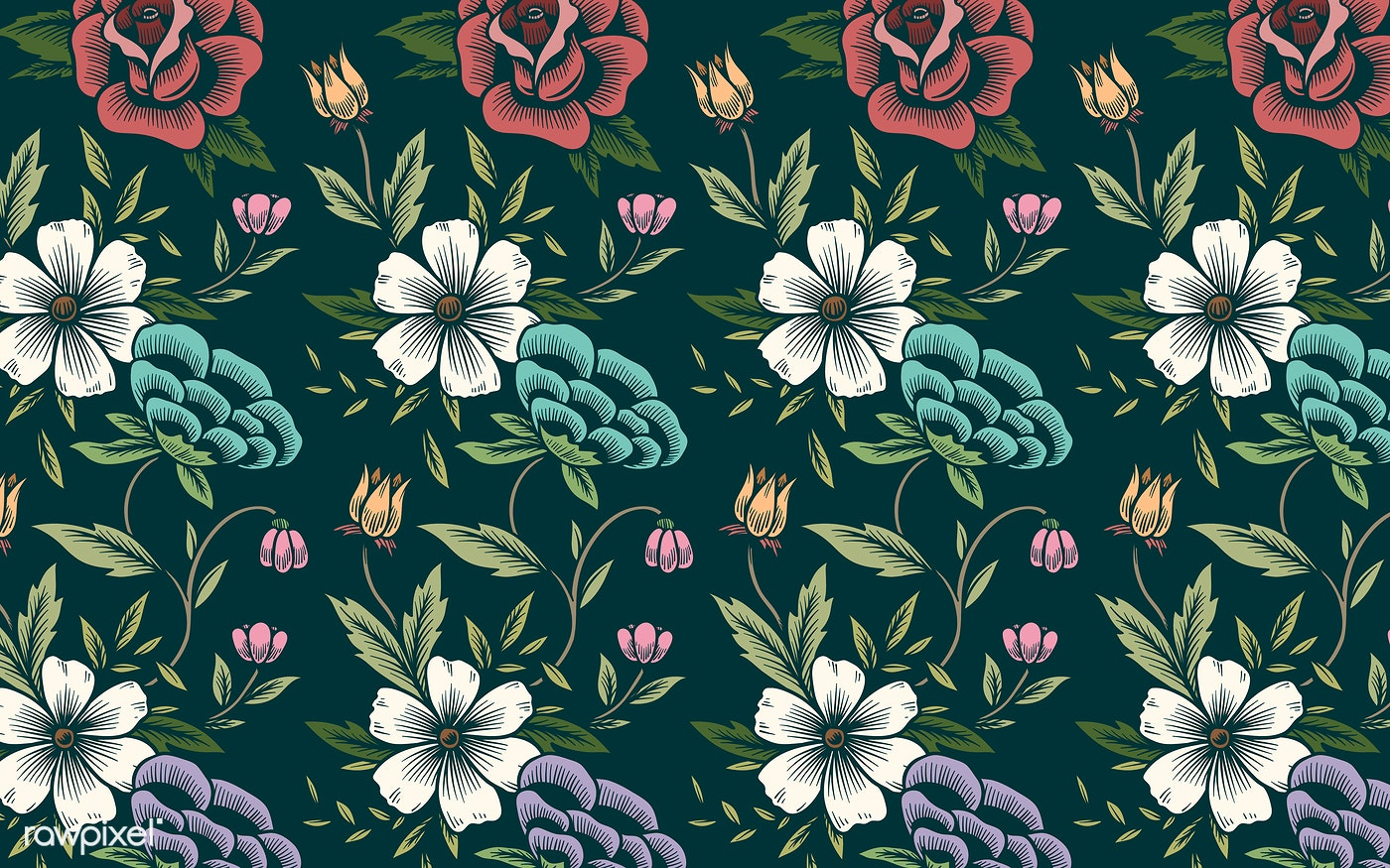 Floral Background Pattern Free Vector 558175