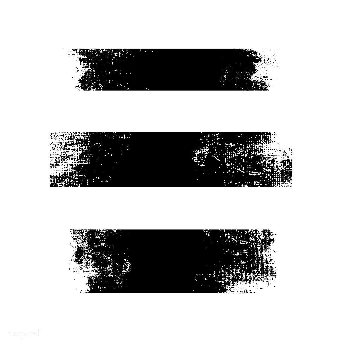 53eea545155e5 Distressed black stroke banners | Free stock vector - 553871
