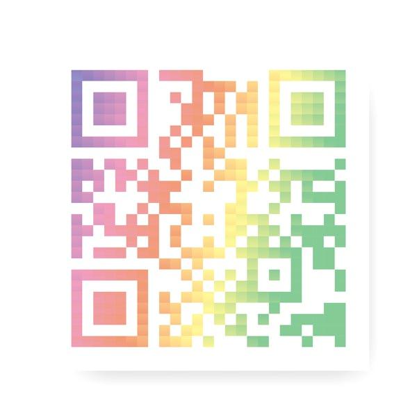 Flat colorful QR code vector