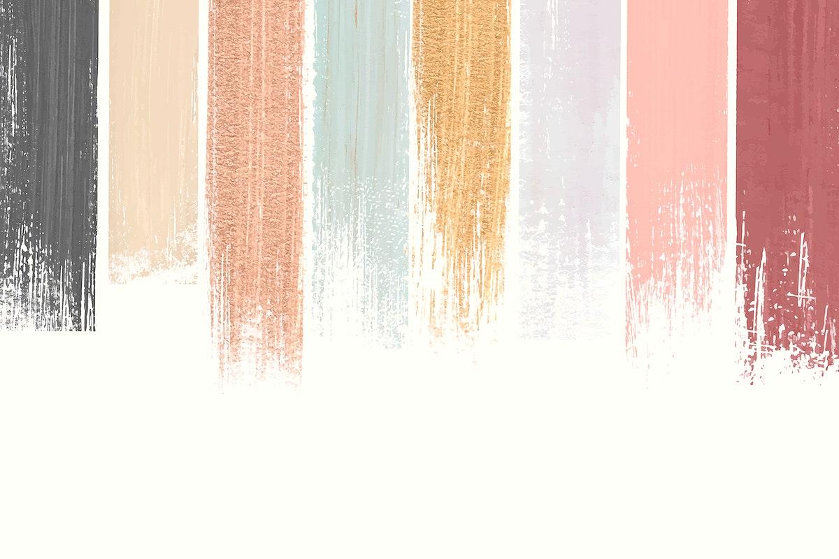 Pastel shimmering acrylic brush stroke vector