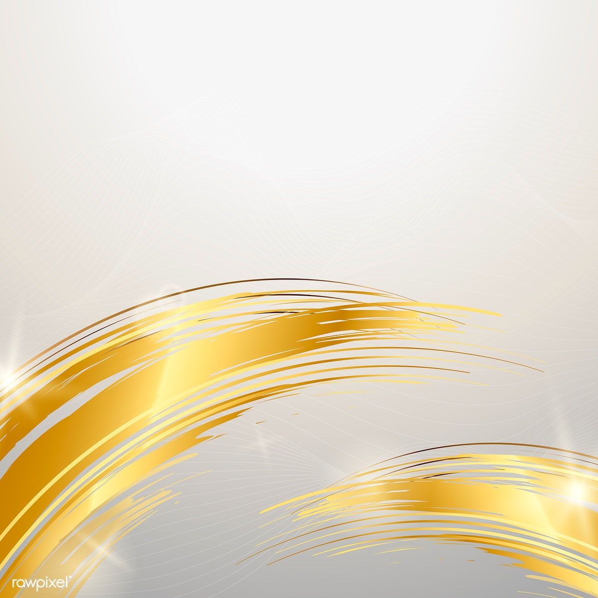 gold wave abstract background illustration free stock