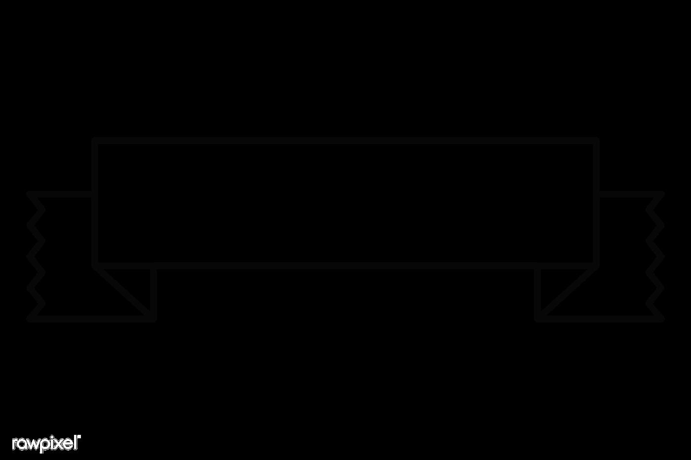 Blank ribbon banner png | Free transparent png - 2021369