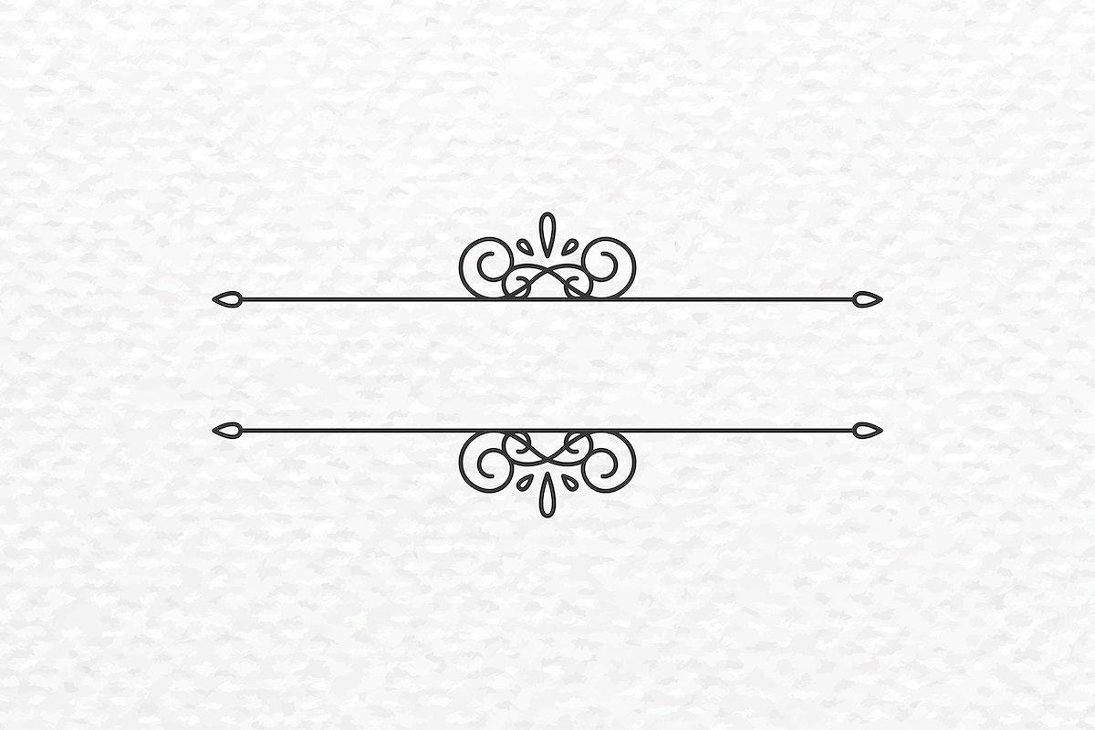 Vintage line frame vector