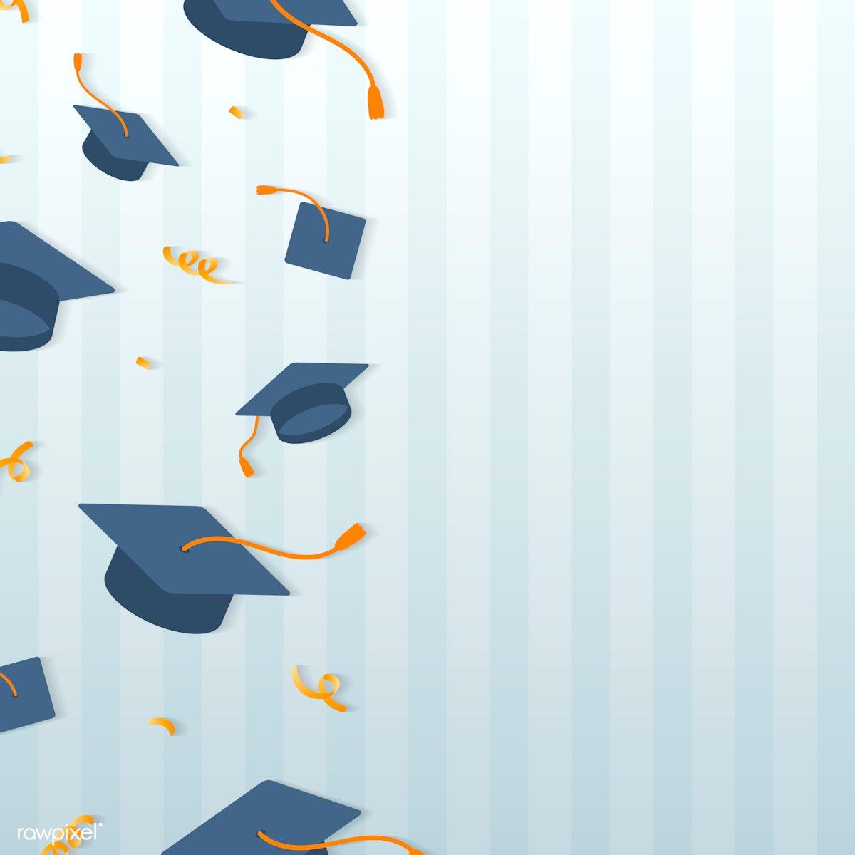 Graduation hats frame | Free stock illustration - 575267