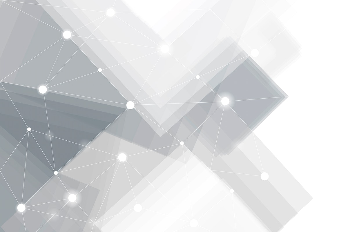 Gray and white futuristic technology background vector