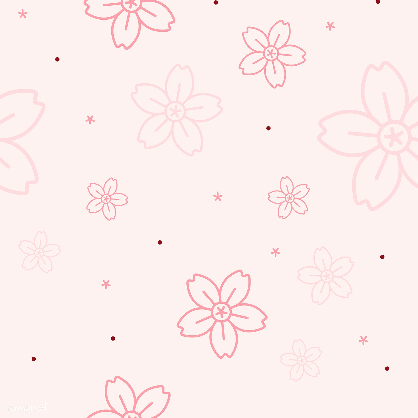 Pink Floral Pattern Free Vector 558638