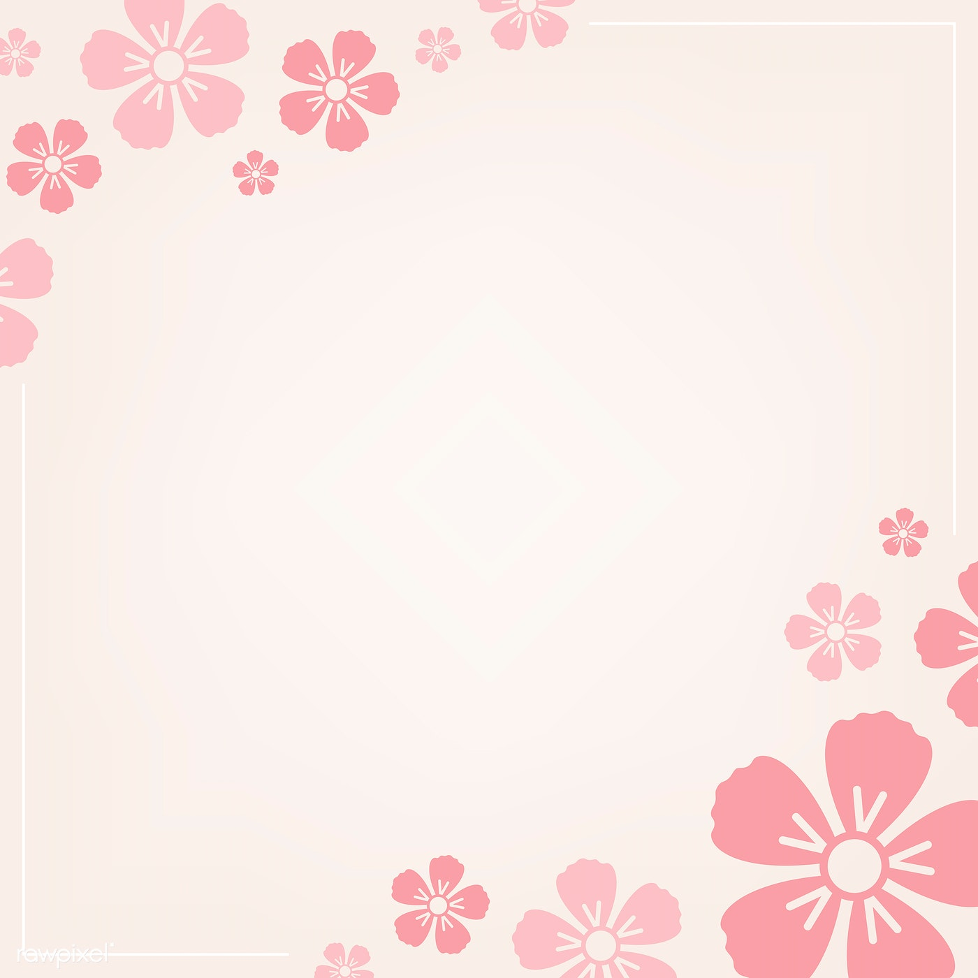 Pink Floral Pattern Free Vector 558654