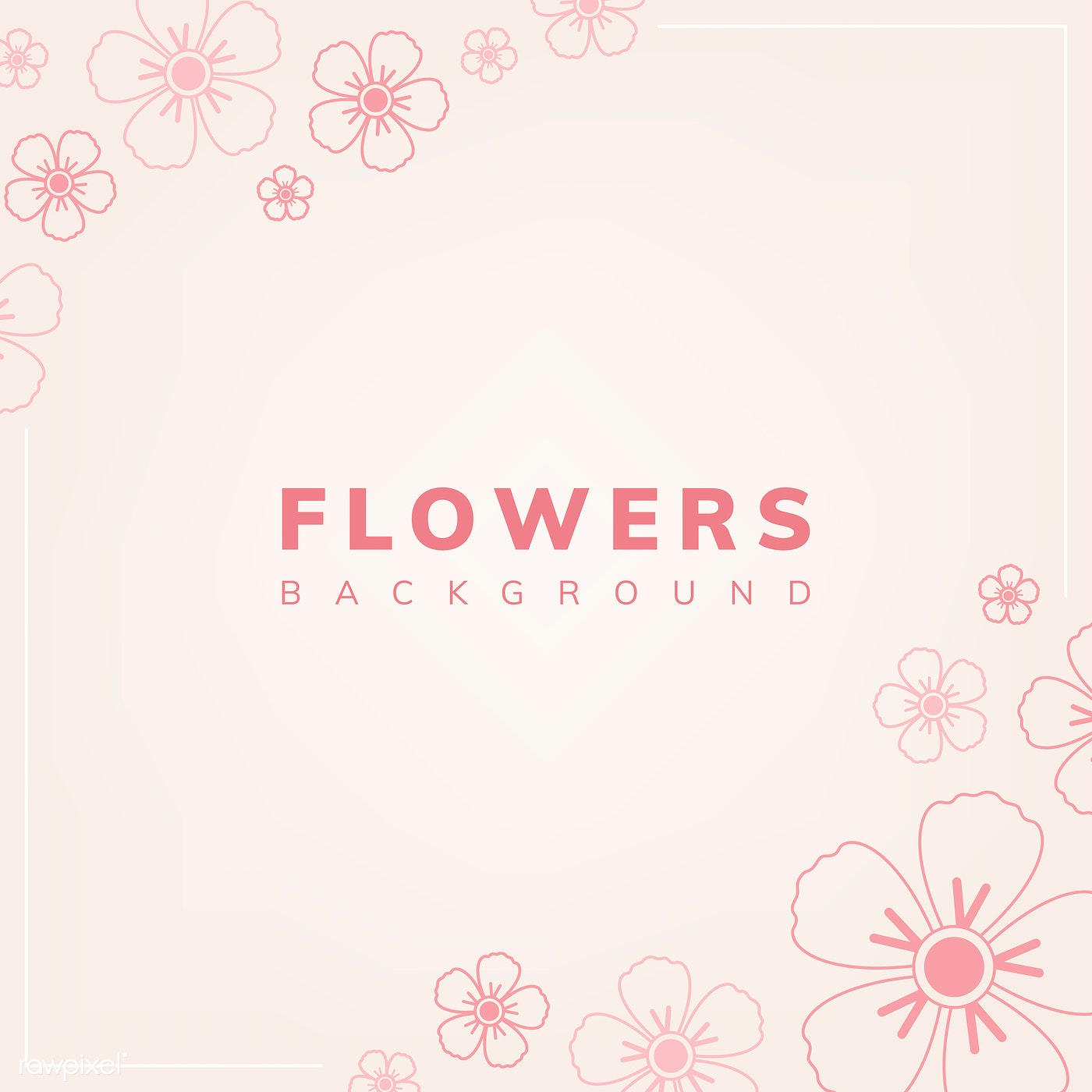Pink Floral Pattern Free Vector 558620