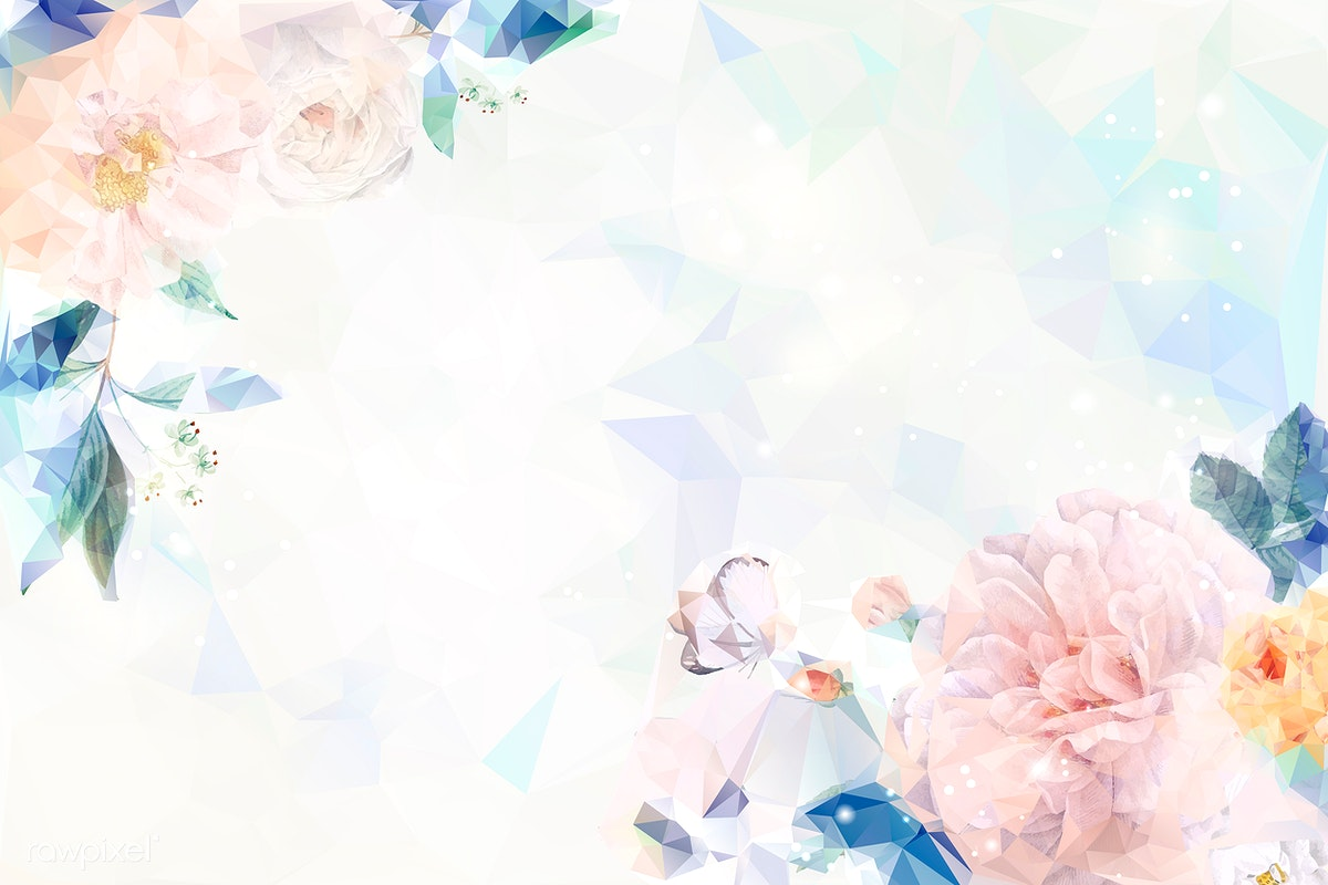 Download Premium Vector Of Flower Blue Background Wallpaper Vector 679934