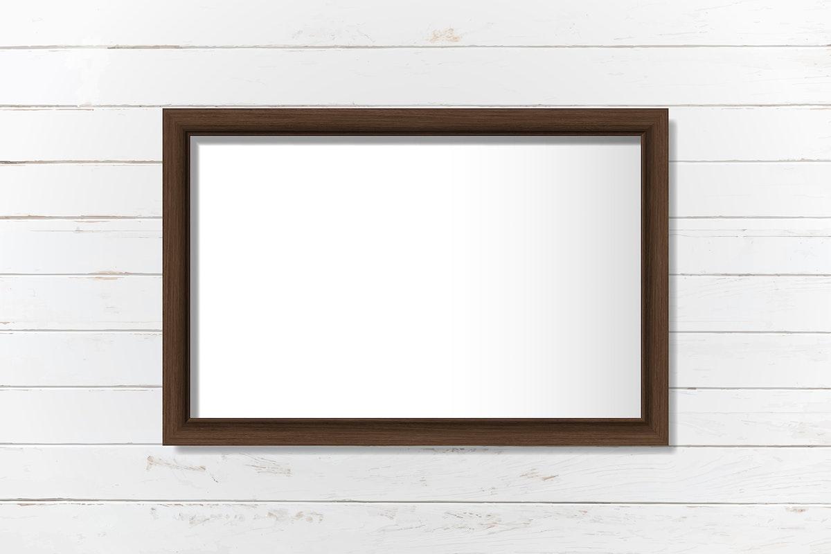 Black frame mockup on a wall vector